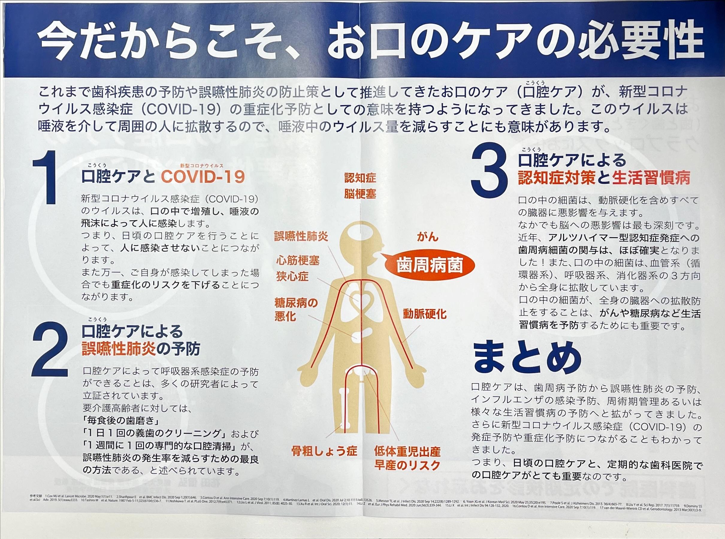 口腔ケアの必要性   Dr kiyohara